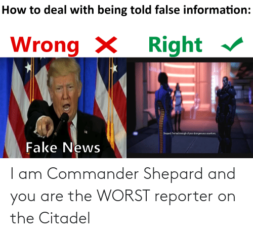 And You Are: I am Commander Shepard and you are the WORST reporter on the Citadel