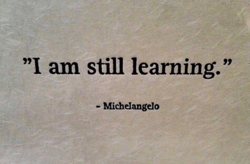 "Michelangelo, Still, and I Am: ""I am still learning.""  Michelangelo"