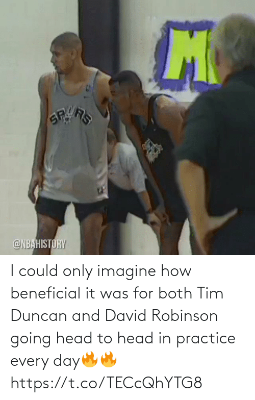 Practice: I could only imagine how beneficial it was for both Tim Duncan and David Robinson going head to head in practice every day🔥🔥 https://t.co/TECcQhYTG8