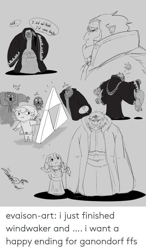 Tumblr, Blog, and Happy: I did uothink  I'd come ths ar evaison-art:  i just finished windwaker and …. i want a happy ending for ganondorf ffs