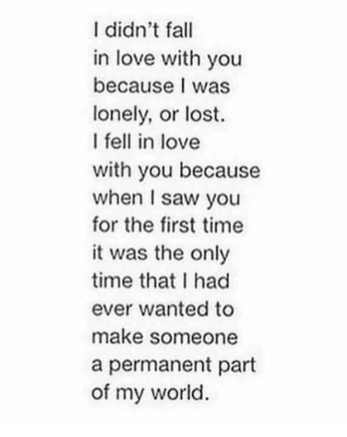 why do we fell in love