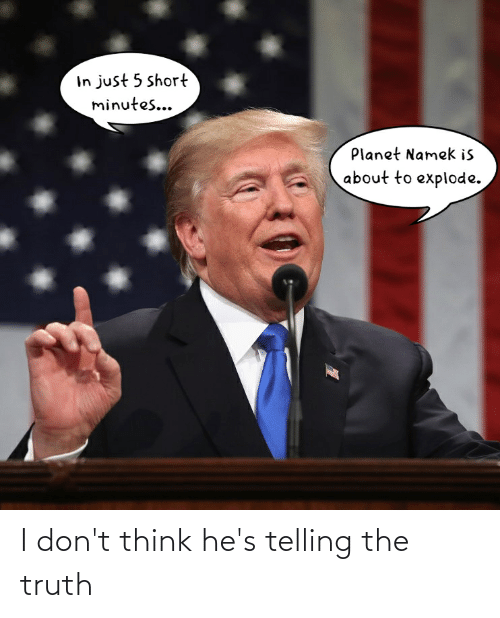 Telling: I don't think he's telling the truth