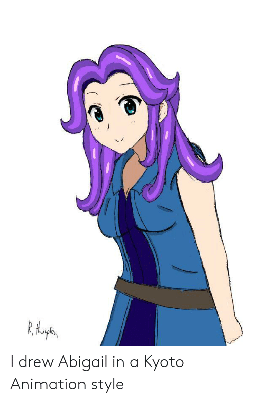 Animation, Kyoto, and Style: I drew Abigail in a Kyoto Animation style