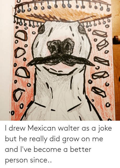 Mexican: I drew Mexican walter as a joke but he really did grow on me and I've become a better person since..