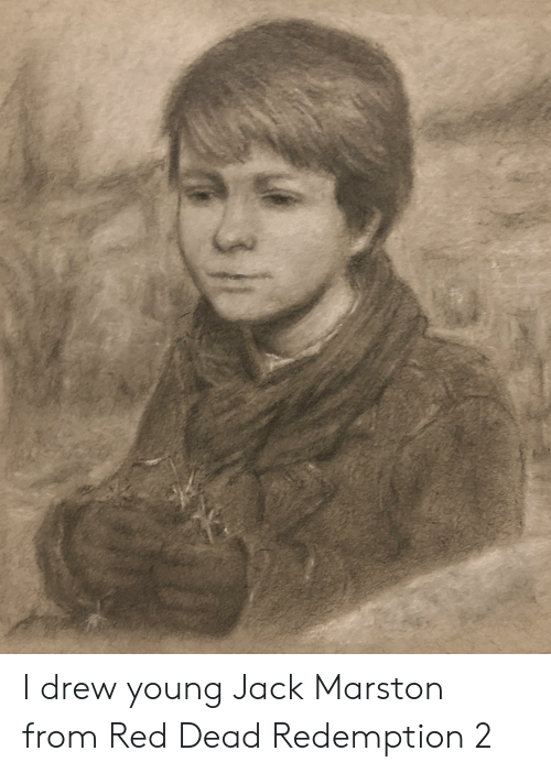 Red Dead Redemption, Red Dead, and Red: I drew young Jack Marston from Red Dead Redemption 2
