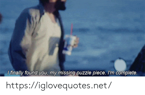 Net, You, and Puzzle: I finally found you, my missing puzzle piece. I'm complete. https://iglovequotes.net/