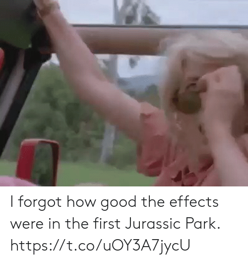 Funny, Jurassic Park, and Good: I forgot how good the effects were in the first Jurassic Park. https://t.co/uOY3A7jycU