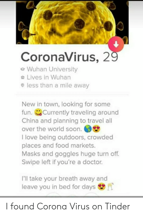 virus: I found Corona Virus on Tinder