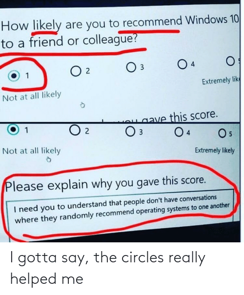 really: I gotta say, the circles really helped me