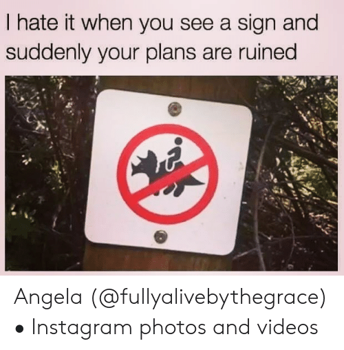 Instagram, Videos, and Photos: I hate it when you see a sign and  suddenly your plans are ruined Angela (@fullyalivebythegrace) • Instagram photos and videos