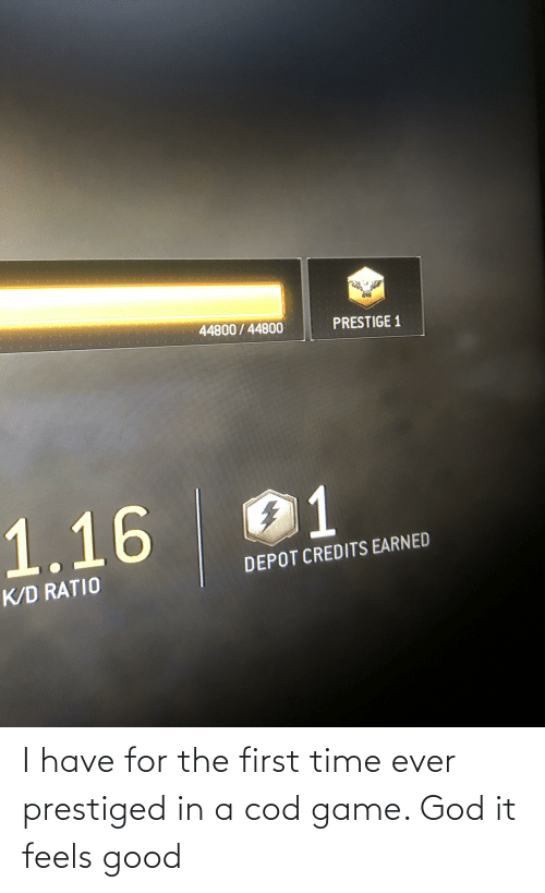 cod: I have for the first time ever prestiged in a cod game. God it feels good