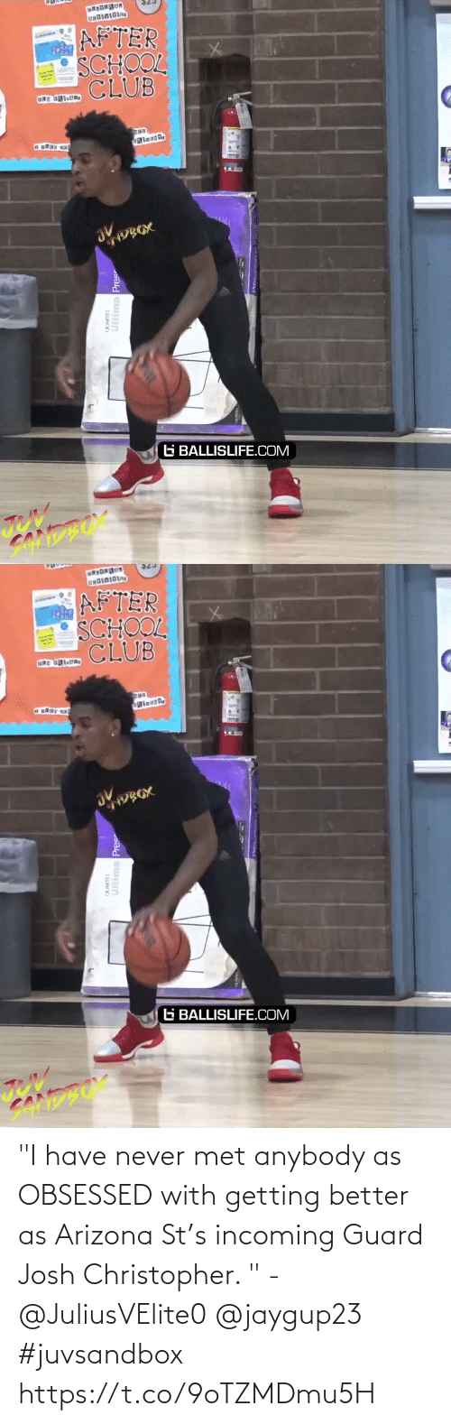 """Getting Better: """"I have never met anybody as OBSESSED with getting better as Arizona St's incoming Guard Josh Christopher. """" - @JuliusVElite0 @jaygup23  #juvsandbox https://t.co/9oTZMDmu5H"""