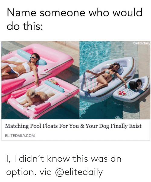 Instagram: I, I didn't know this was an option.via @elitedaily