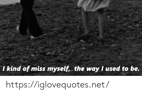 Net, Miss, and Href: I kind of miss myself, the wayI used to be. https://iglovequotes.net/