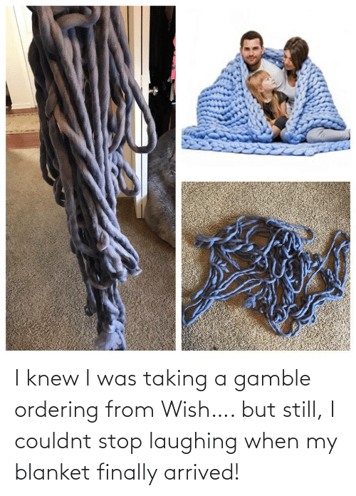 arrived: I knew I was taking a gamble ordering from Wish…. but still, I couldnt stop laughing when my blanket finally arrived!