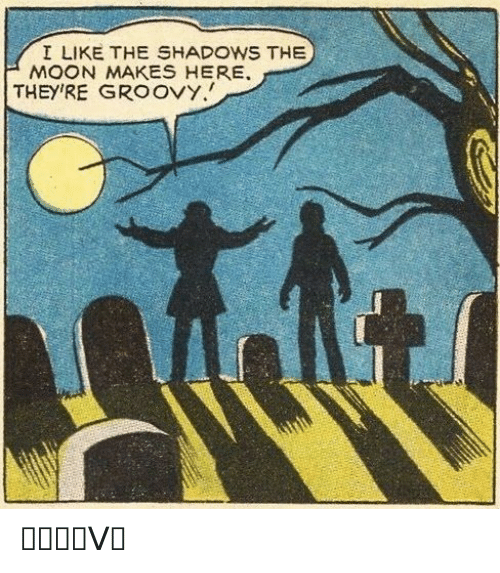 the shadows: I LIKE THE SHADOWS THE  MOON MAKES HERE  THEY'RE GROOVY. ᏀᖇᝪᝪᐯᎩ