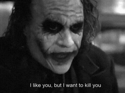 But I Want To: I like you, but I want to kill you
