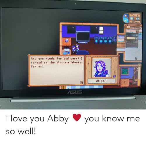 I Love You: I love you Abby ♥️ you know me so well!