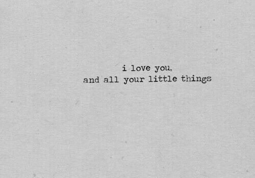 Love, I Love You, and All: i love you,  and all your little things