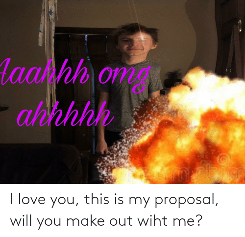 I Love You: I love you, this is my proposal, will you make out wiht me?