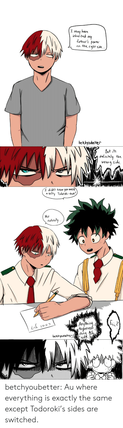 Definitely, Target, and Tumblr: I may have  inherited m  father's porer  on the right side.  bethyoubeter  But its  definitely the  iNrora Sid<.   I dcit know you were  a lefty Todoroki -kun  Not  naturally  in  to preve  bethyouoeter  id  S1 betchyoubetter:  Au where everything is exactly the same except Todoroki's sides are switched.