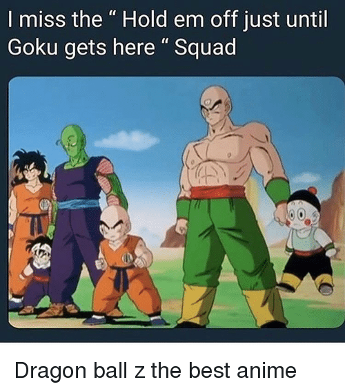"""The Best Anime: I miss the """" Hold em off just until  Goku gets here"""" Squad Dragon ball z the best anime"""