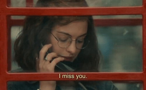 You, Miss, and I Miss You: I miss you.