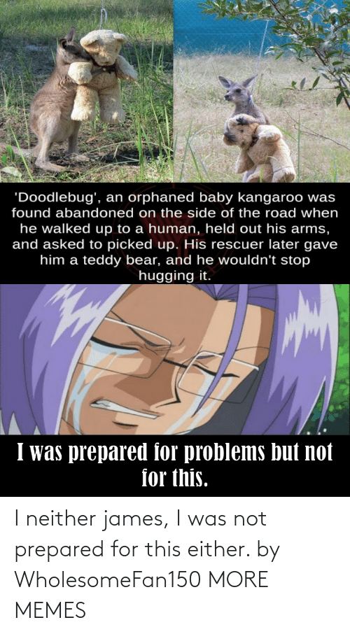 james: I neither james, I was not prepared for this either. by WholesomeFan150 MORE MEMES
