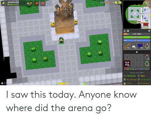 where did: I saw this today. Anyone know where did the arena go?
