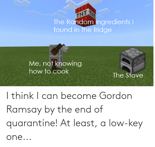Gordon: I think I can become Gordon Ramsay by the end of quarantine! At least, a low-key one...