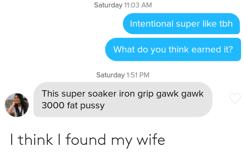 my wife: I think I found my wife