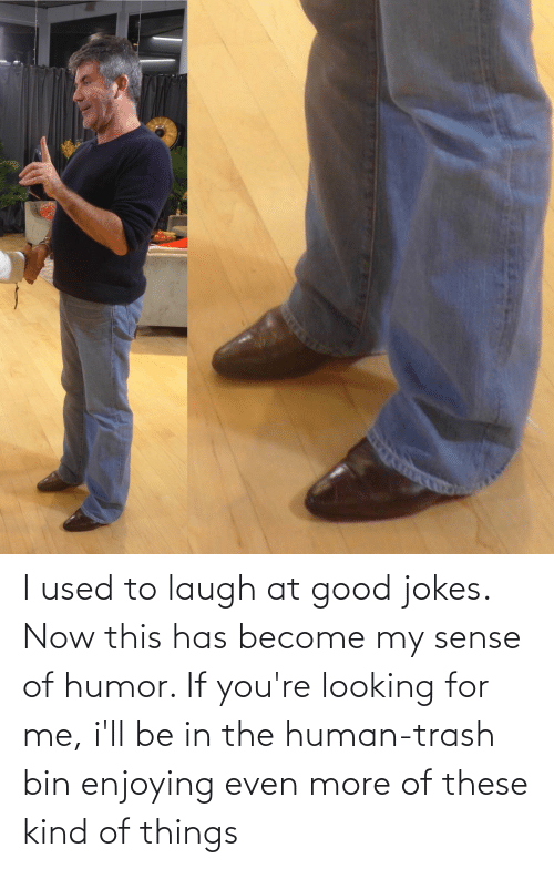 Trash, Good, and Jokes: I used to laugh at good jokes. Now this has become my sense of humor. If you're looking for me, i'll be in the human-trash bin enjoying even more of these kind of things