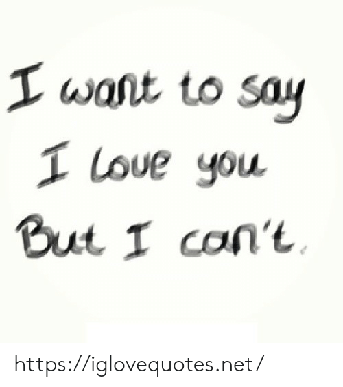 Love, I Love You, and Net: I want to say  I Love you  But I can't https://iglovequotes.net/