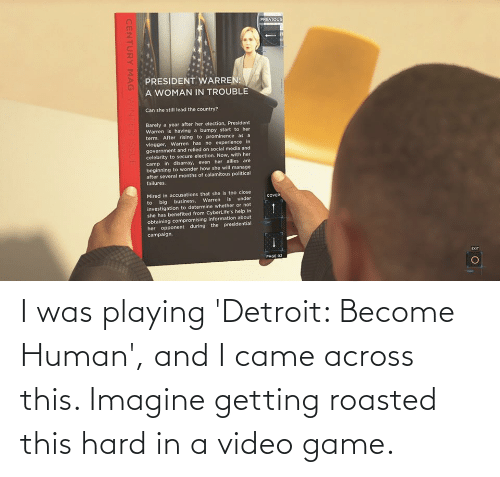 Getting Roasted: I was playing 'Detroit: Become Human', and I came across this. Imagine getting roasted this hard in a video game.