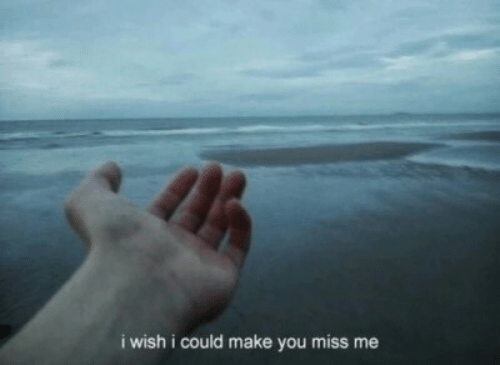You Miss Me: i wish i could make you miss me