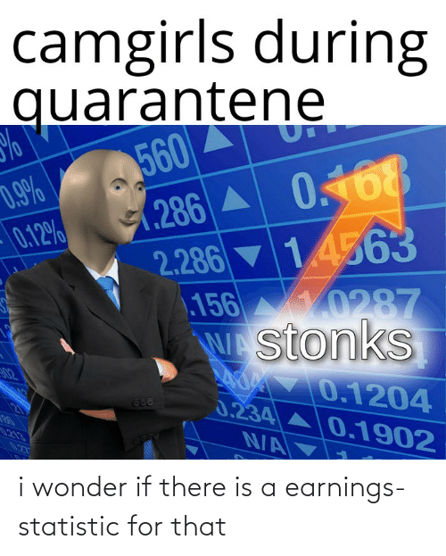 i wonder: i wonder if there is a earnings-statistic for that