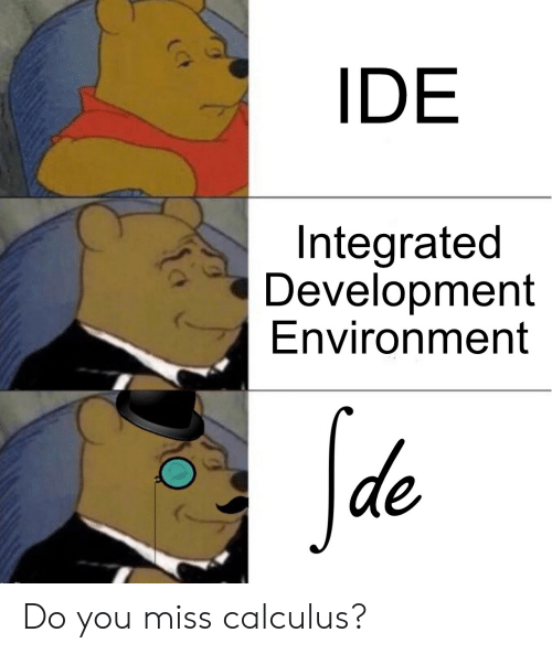 calculus: IDE  Integrated  Development  Environment  Sde Do you miss calculus?