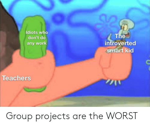 smart kid: Idiots who  The  introverted  smart kid  don't do  any work  Teachers Group projects are the WORST