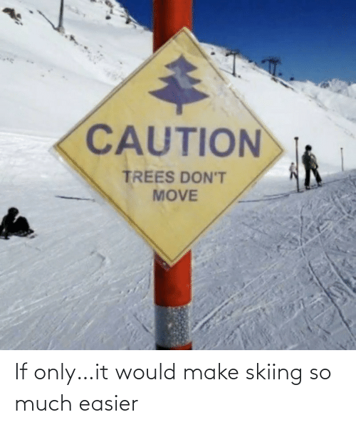 skiing: If only…it would make skiing so much easier