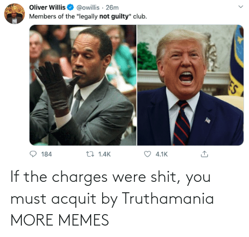 Must: If the charges were shit, you must acquit by Truthamania MORE MEMES