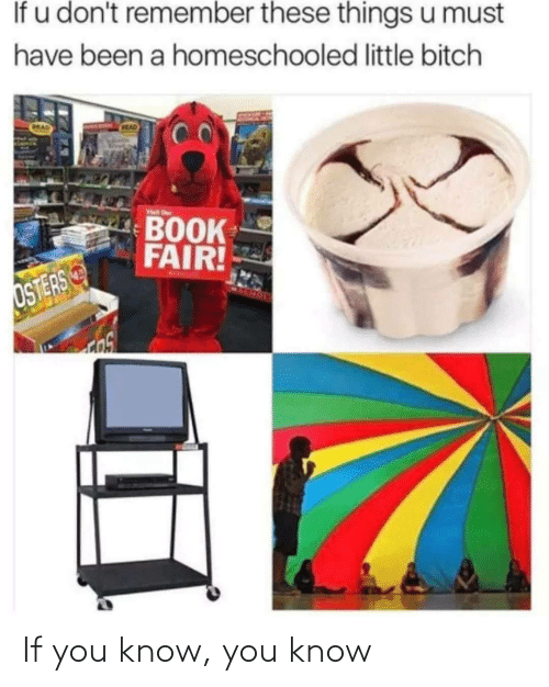 Have Been: If u don't remember these things u must  have been a homeschooled little bitch  CRAD  MAD  Visit r  BOOK  FAIR!  OSTERS If you know, you know