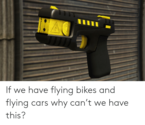 bikes: If we have flying bikes and flying cars why can't we have this?