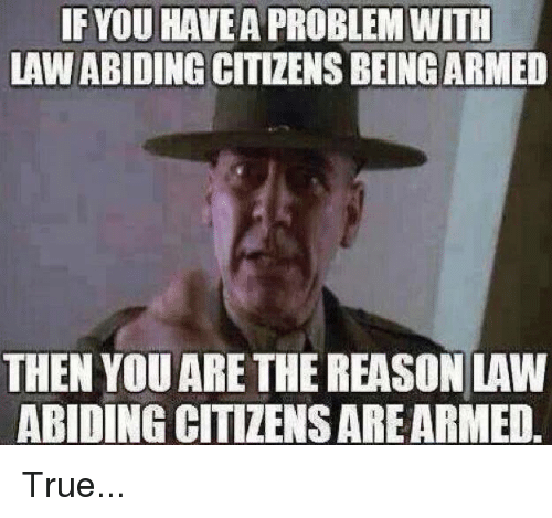 You Have A Problem: IF YOU HAVE A PROBLEM WITH  LAW ABIDING CITIZENS BEINGARMED  THEN YOU ARE THE REASON LAW  ABIDING CITIZENS ARE ARMED True...
