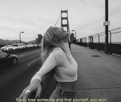 You, Lose, and Find: If you lose someone and find yourself, you won
