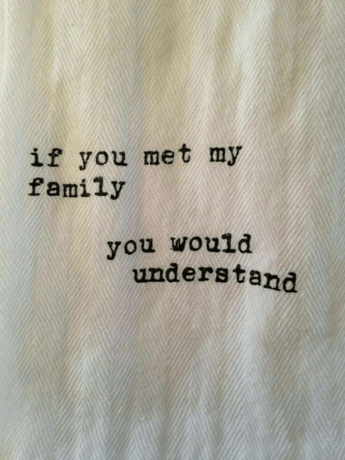 Family, You, and My Family: if you met my  family  you would  understand