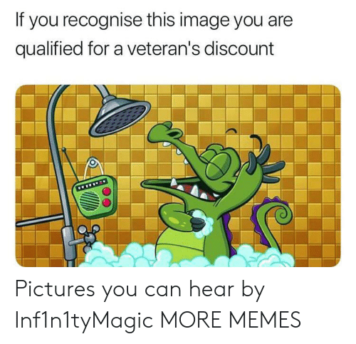 Veterans: If you recognise this image you are  qualified for a veteran's discount  www Pictures you can hear by Inf1n1tyMagic MORE MEMES