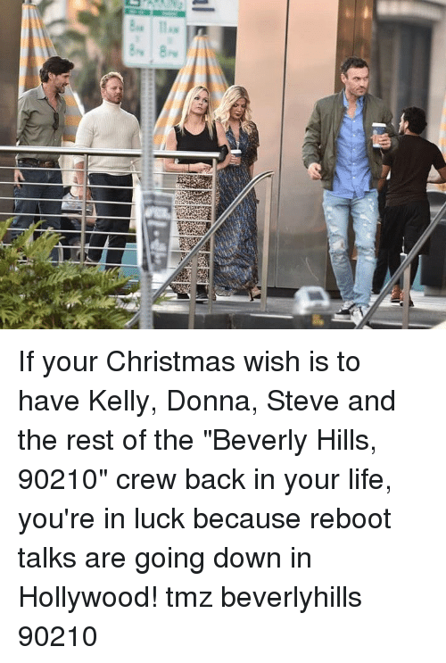 """Donna: If your Christmas wish is to have Kelly, Donna, Steve and the rest of the """"Beverly Hills, 90210"""" crew back in your life, you're in luck because reboot talks are going down in Hollywood! tmz beverlyhills 90210"""