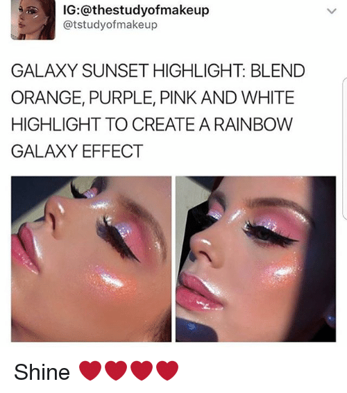 SUNSET HIGHLIGHT BLEND ORANGE PURPLE