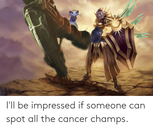champs: I'll be impressed if someone can spot all the cancer champs.