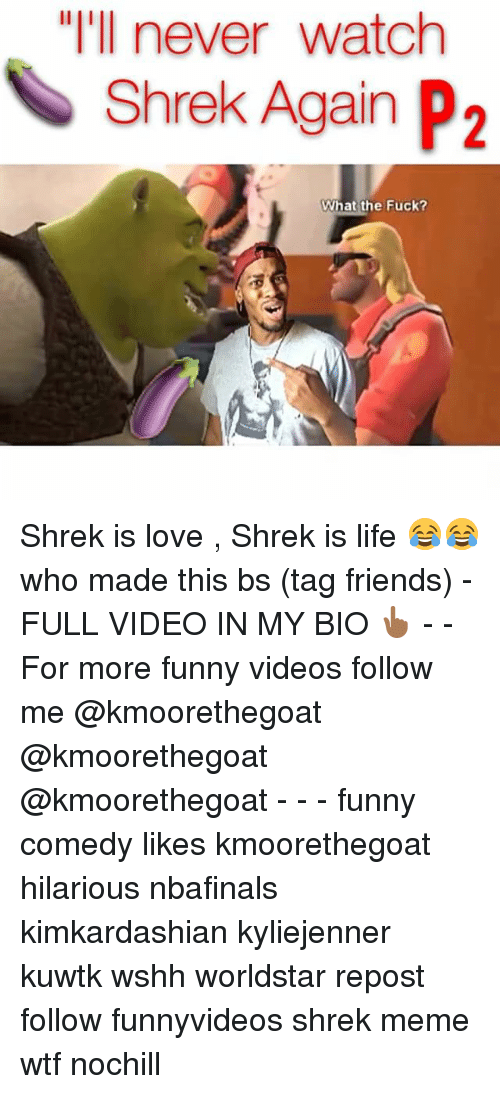 "shrek is love shrek is life: ""I'll never watch  Shrek Again P2  What the Fuck? Shrek is love , Shrek is life 😂😂 who made this bs (tag friends) -FULL VIDEO IN MY BIO 👆🏾 - - For more funny videos follow me @kmoorethegoat @kmoorethegoat @kmoorethegoat - - - funny comedy likes kmoorethegoat hilarious nbafinals kimkardashian kyliejenner kuwtk wshh worldstar repost follow funnyvideos shrek meme wtf nochill"